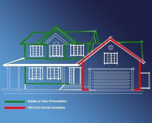 insulation house front view diagram
