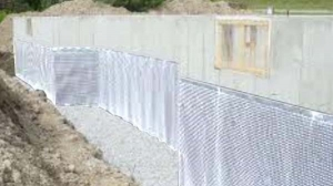 exterior foundation wrap insulation & vapour barrier