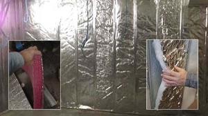 wall cavity bubble and fibre insulation